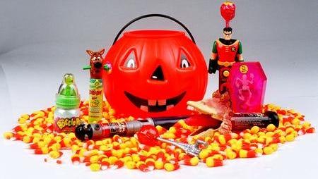 Halloween bucket and candy
