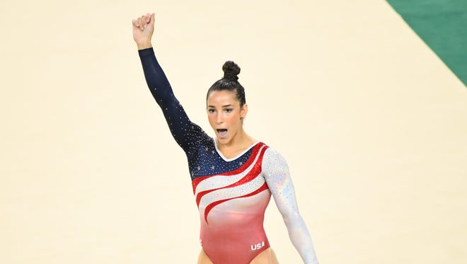 Aly Raisman helped the USA to gold in the team competition.