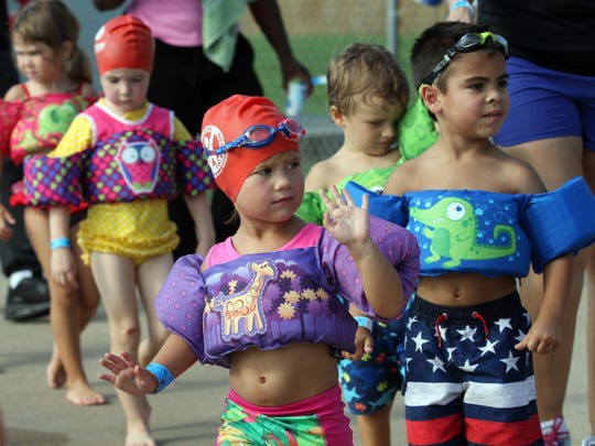 150 triathletes headed to the pool early Saturday for Clarksville Parks & Recreation's fourth annual Wonderkids Triathlon.