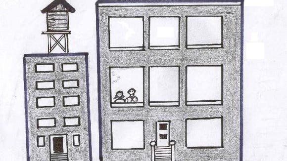 A graphic showing the two concerned individuals trapped in a NYC apartment.