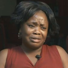 Florence Brown tears up as she talks to News10 about her son Bobby Weh on Wednesday, Aug. 20, 2014