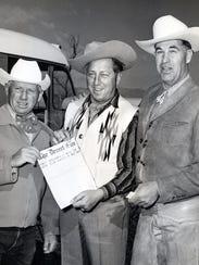 Cliff Campbell, Ray Ryan, Frank Bogert at the Desert