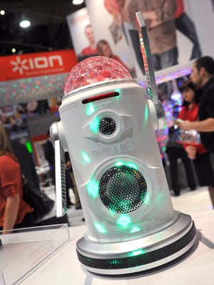 The Party Bot by ION is displayed at the 2015 International CES.