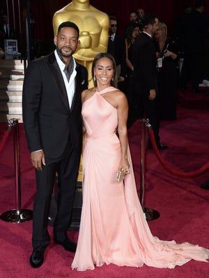 Will Smith and Jada Pinkett Smith at the Oscars in 2014.