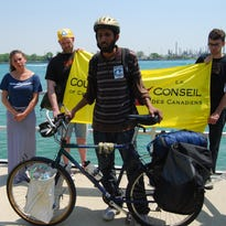 Murtaza Nek will be riding the  route of Enbridge Line 5 to protest its continued use.