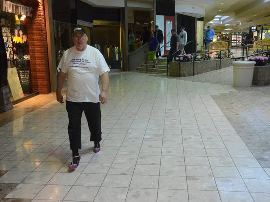 William Lowmesberry walked in his 43 walk against domestic violence.