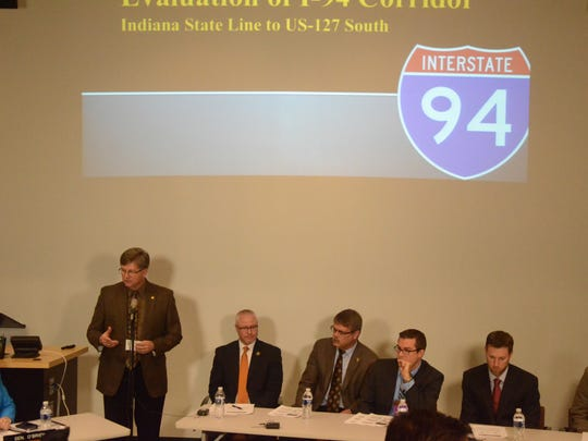 A number of speakers discussed possible improvements for the I-94 corridor Monday.