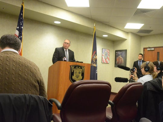 Prosecutor Jeff Getting spoke with reporters Thursday