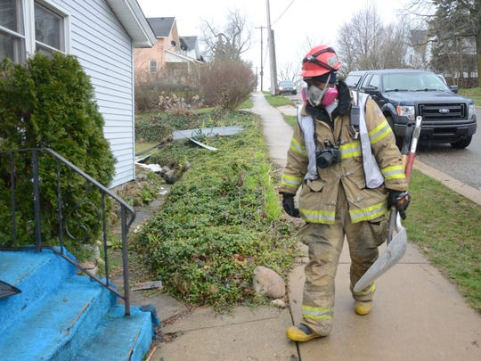 Battle Creek Fire Marshal Quincy Jones was searching Thursday for the cause of the fatal fire.