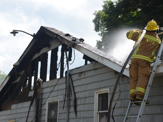 A house on 2-Mile Road was destroyed by fire on Thursday.