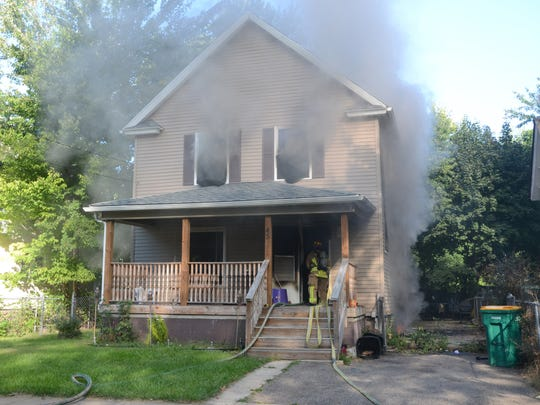 This home at 45 Magnolia Avenue on Battle Creek's north side sustained $70,000 in damage by fire.