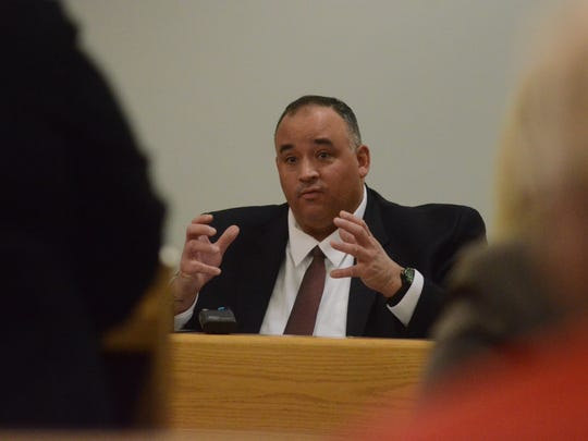 Michigan State Police Lt. Marco Herdandez said Anthony Ball demonstrated how he saw his girlfriend shake her daughter.