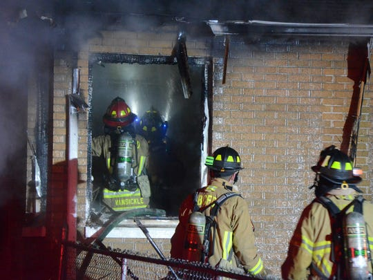 Battle Creek firefighters fought a Sunday fire in a