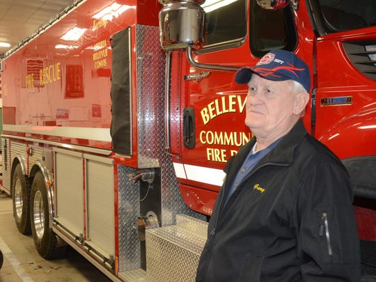 Gary Greenfield said the equipment is much better than when he started as a firefighter in 1962,