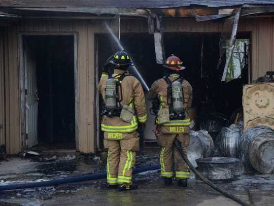 Battle Creek firefighters insuring no more fire is