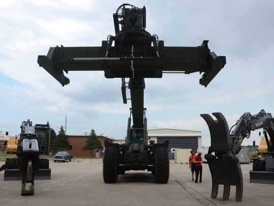 Heavy equipment was on display Friday at the Air National