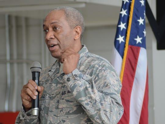 Major General Leonard Isabelle Jr. presented the Distinguished