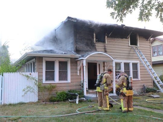 A fire heavily damaged a home at 138 Surby Ave. in Battle Creek on Friday, Sept. 15, 2017.