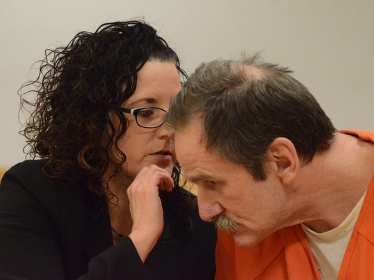 Arthur French listens to his attorney, Melissa Heffner.
