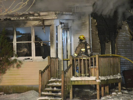 The resident of his home was injured in an early morning fire Sunday.