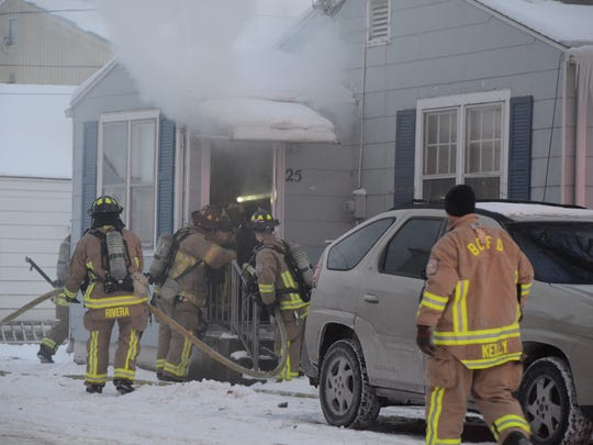 Battle Creek firefighters said thawing frozen pipes was the cause of a fire Saturday.