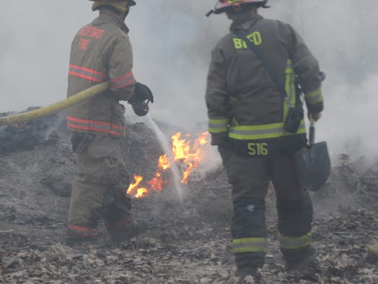 Bedford Township firefighters spent more than three hours fighting a fire at Bedford Valley Golf Club on Tuesday, March 20, 2018.