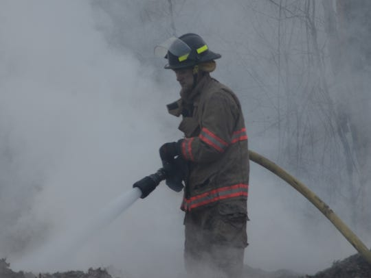 Bedford Township firefighters used 10,000 gallons of