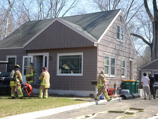 Battle Creek firefighters were called at 11:11 a.m.