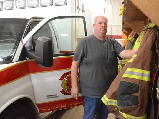 Fire Chief Daryl Cummins said last week that the Tekonsha Township fire station is so small there is little room for firefighters to put on gear or work on engines.