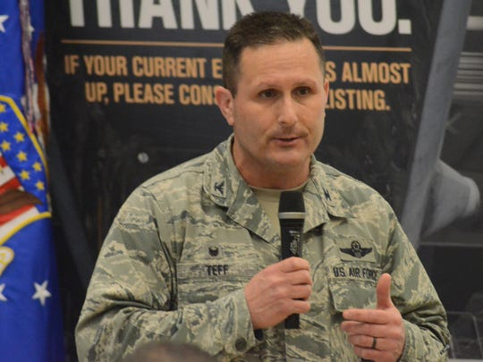 Col. Bryan Teff, commander of the 110th Attack Wing at the Battle Creek Air National Guard Base.