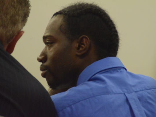 Robert Amerson confers with his attorney, Donald Sappanos.