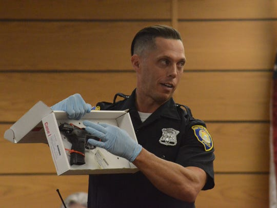 Battle Creek Crime Technician Kevin Stansbery displays
