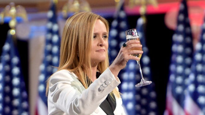 Samantha Bee speaks onstage during 'Full Frontal With Samantha Bee's 'Not The White House Correspondents' Dinner.'
