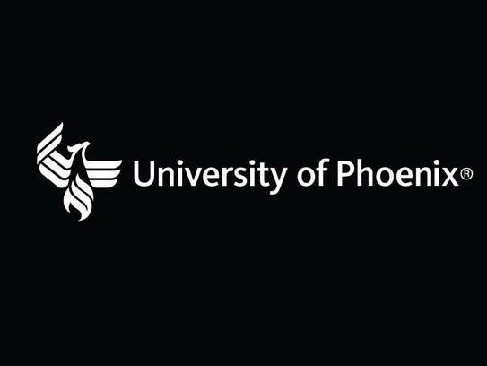 Logo of the University of Phoenix.