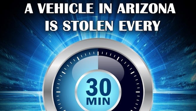 A vehicle in Arizona is stolen every 30 minutes, according to the Mesa Police Department.