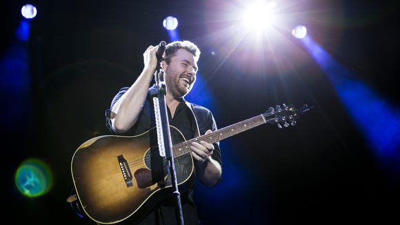 Chris Young performs at the Big Barrel Country Music Festival in Dover last year.