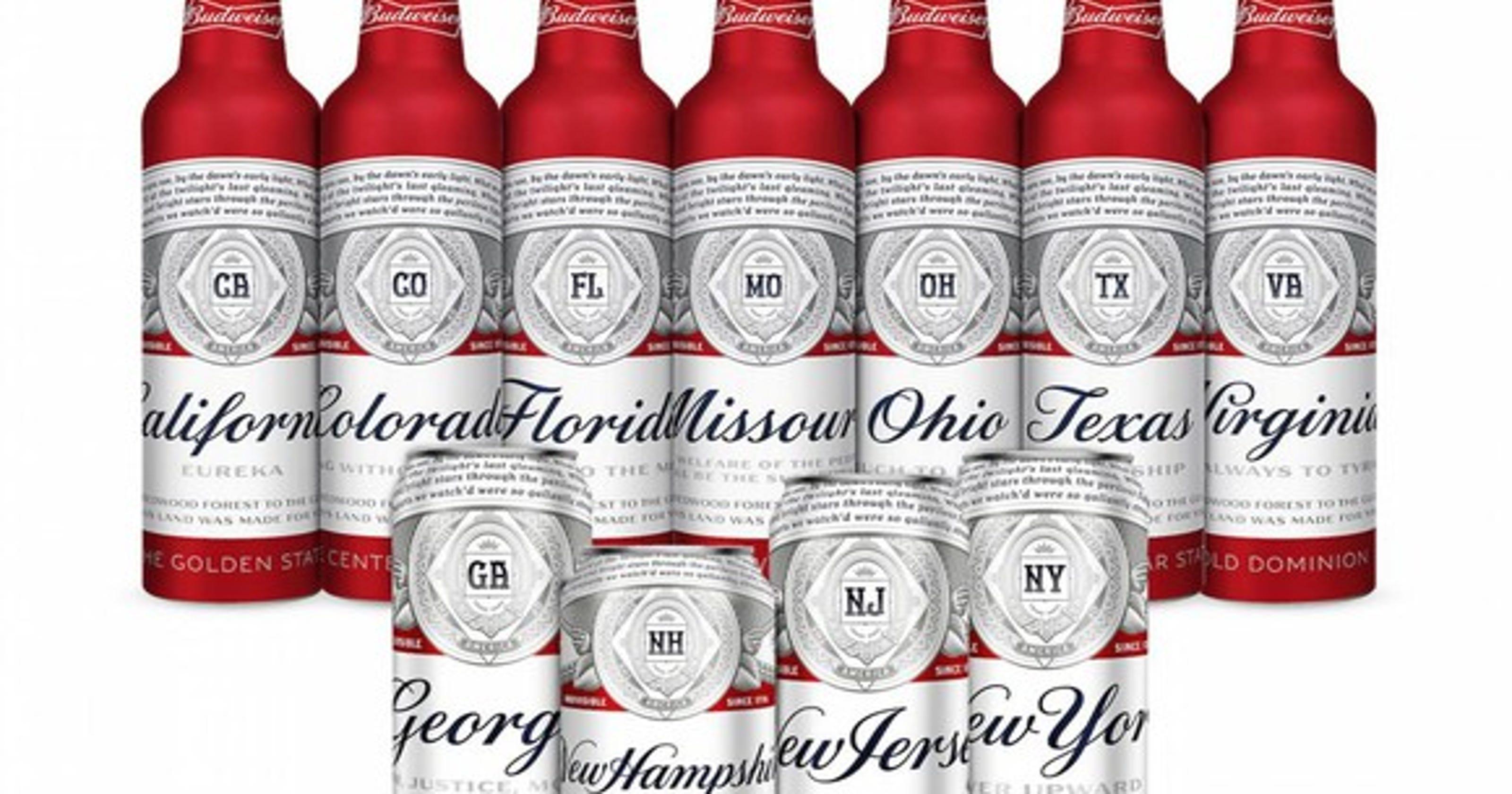 Budweiser falls out of top three U S  beer favorites