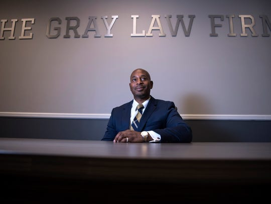 Navarro Gray at his office in Hackensack on Friday,