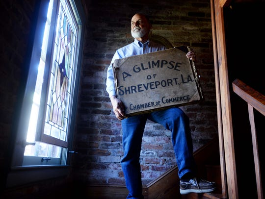 """Ed Chopin with the """"A Glimpse of Shreveport"""" photo"""