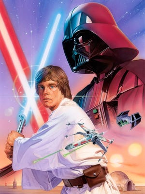 Cape Coral artist Robert Hendrickson brings Star Wars to life in his movie-poster-style paintings.