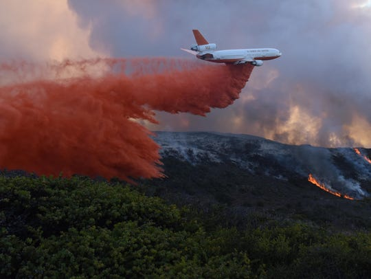 Scene from the California wine country wildfires.