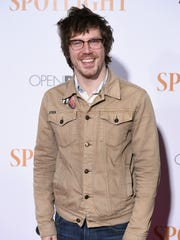 """John Gallagher Jr. attends the """"Spotlight"""" New York premiere at Ziegfeld Theater on October 27, 2015 in New York City."""