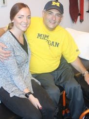 Danny Heumann is pictured with Recovery Project therapist
