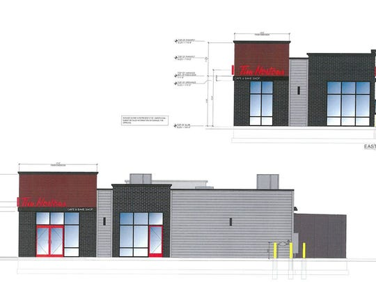 The plans for a Tim Hortons restaurant east of TCF