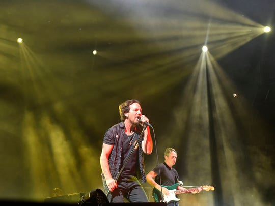 Eddie Vedder with Pearl Jam at the Bonnaroo Music and Arts Festival in Manchester, Tenn on Saturday, June 11, 2016.