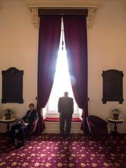 Rep. Clem Bissonette, D-Winooski, waits for the Legislature