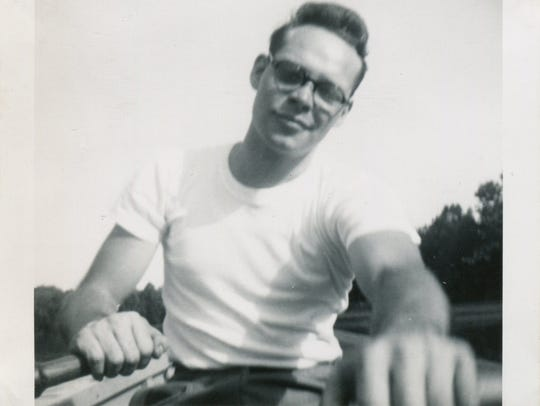 Sonny Murphy rowing - the same thing he was doing when
