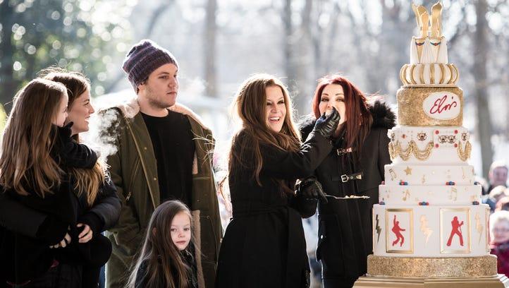 January 08, 2015 - Lisa Marie Presley's children, left,