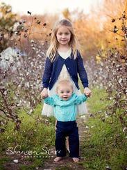Sean and Lauren Dunbar's two children.