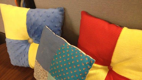 All three pillows